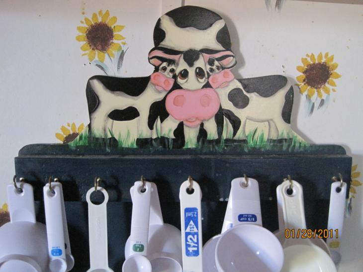 Cow Kitchen Cup Holder